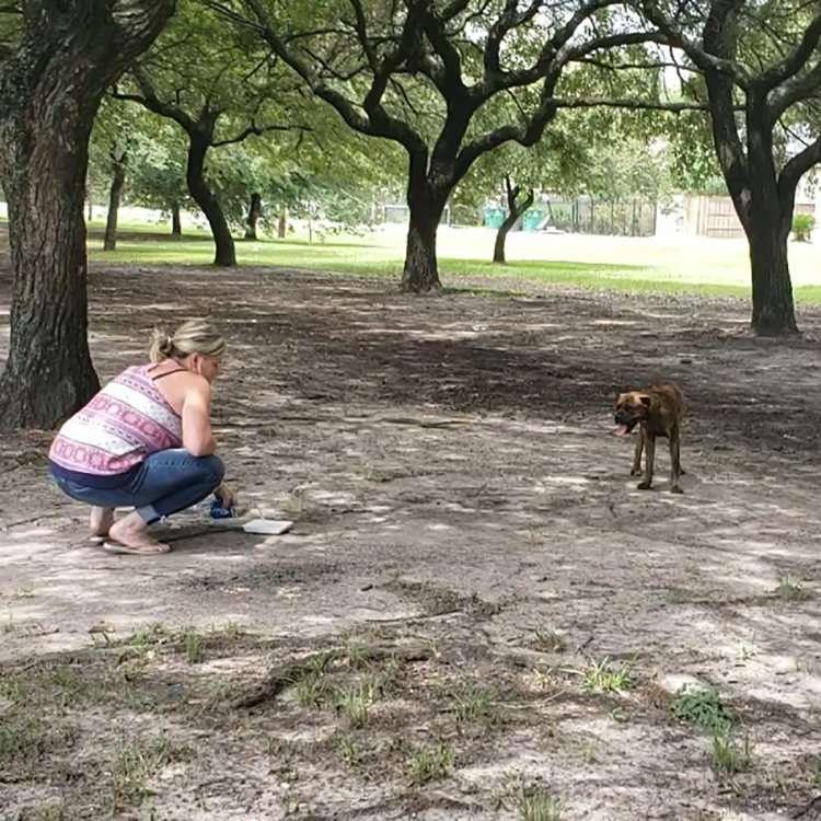 Director of Programs, Julie, befriending Lexi Marie to get her to drink water.