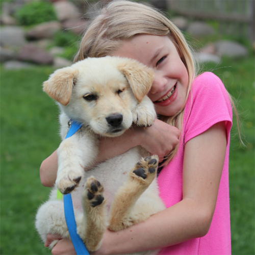 Link cuddling a little girl
